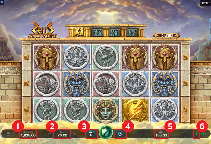 เกมส์สล็อต Ancient Fortunes: Zeus