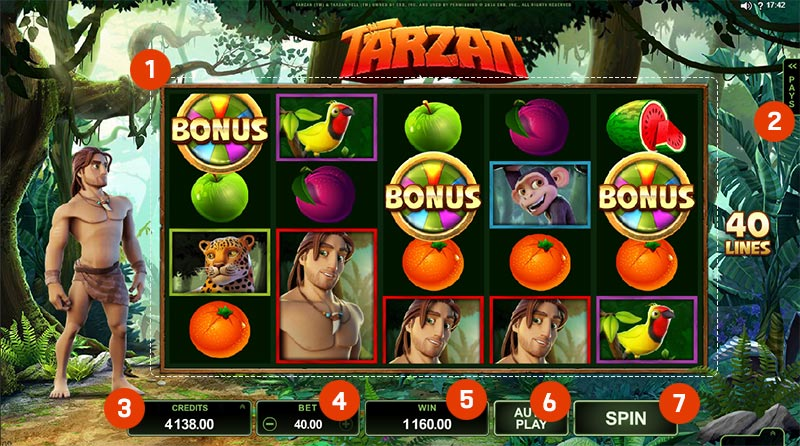 Tarzan Slot Online